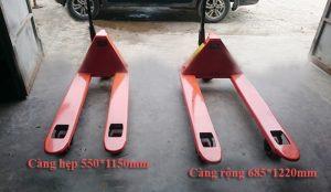 Xe nâng tay HPT20S càng hẹp 550x1150mm nâng 2 tấn