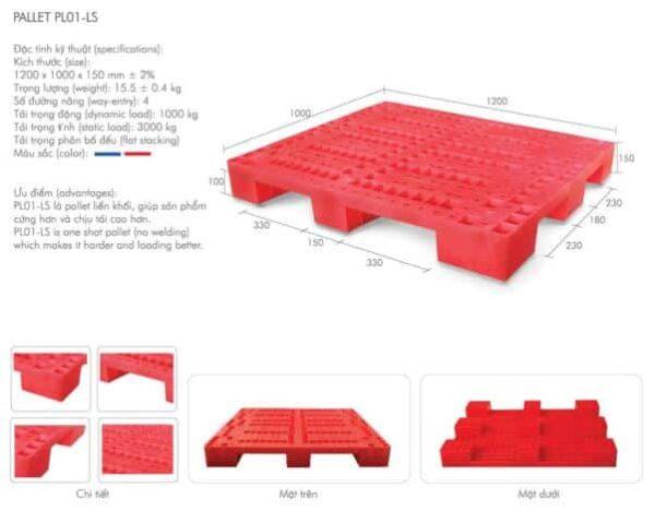 pallet nhựa mới pl01-ls